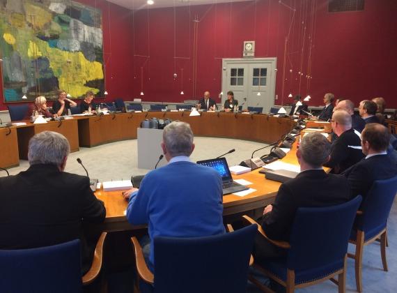 Compareixença de Romeva al Parlament danès (25 d'octubre de 2017)